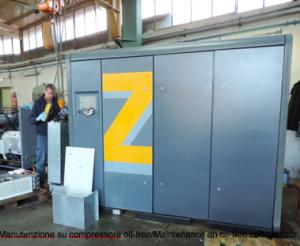 manutenzione compressori oil free